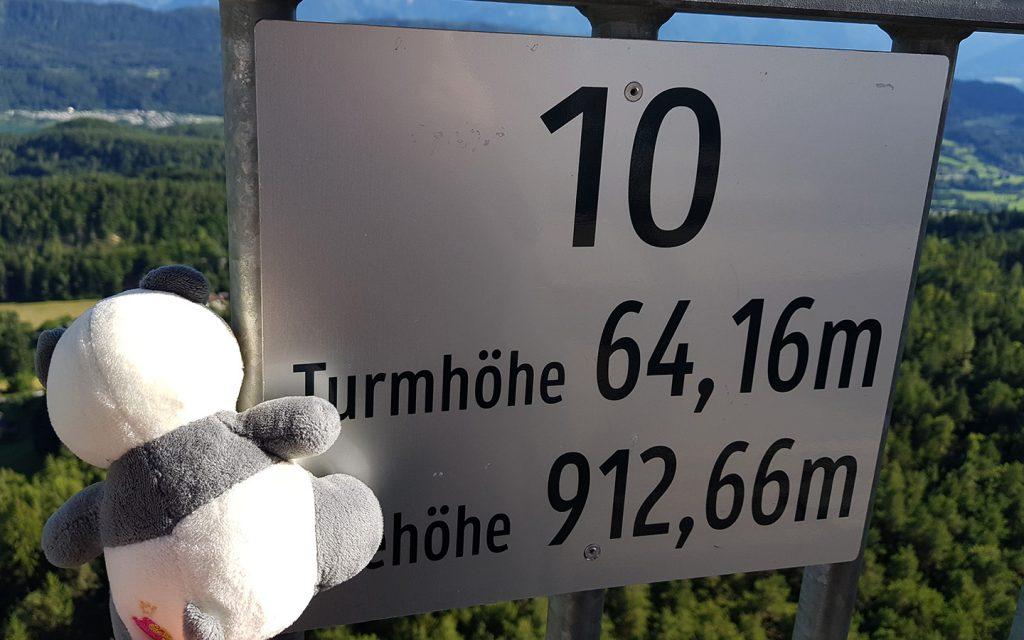 View from Pyramidenkogel Wörthersee, Kärnten, Carinthia, Austria