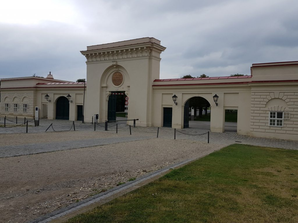 The meeting point for the Vienna Ugly tour is in front of the Augarten park's main gate, 2nd district, Vienna, Austria.