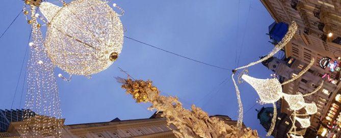 Christmas Decoration at Graben near St. Stephen's Chathedral, Vienna, Austria
