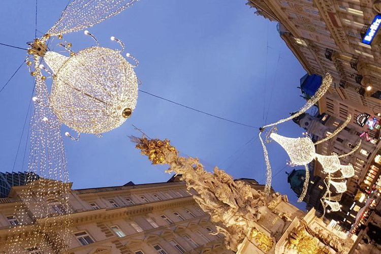 Christmas Decoration at Graben near St. Stephen's Chathedral, Vienna, Austria