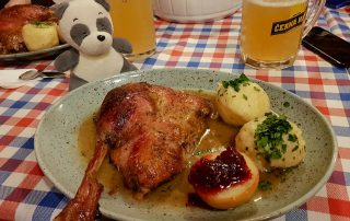 Saint Martins Day Roasted Goose Feast Meal at Gasthaus Quell in Vienna, Austria