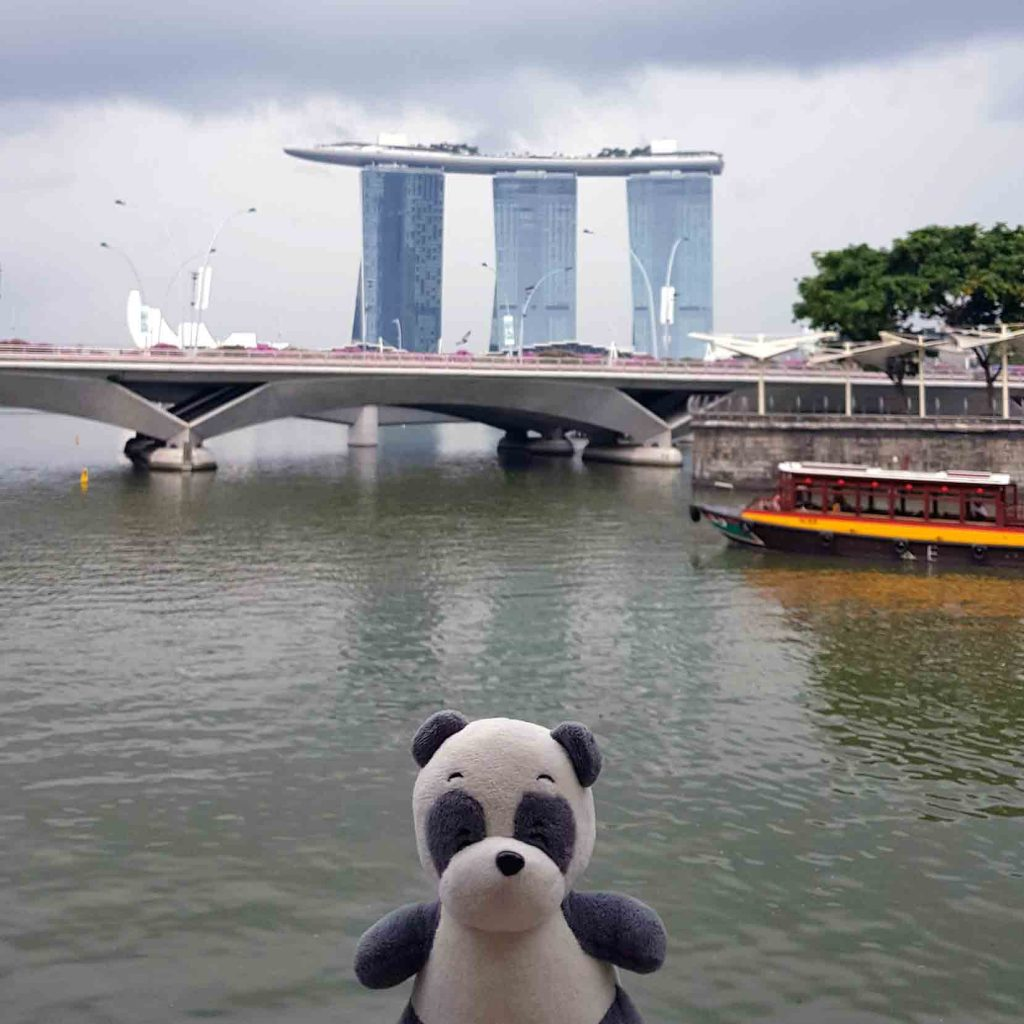 Front View of Marina Bay Sands Hotel from the Mainland, Singapore