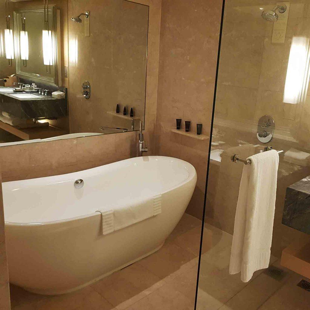 Bathtub in Bathroom of Premier Suite at Marina Bay Sands Hotel, Singapore