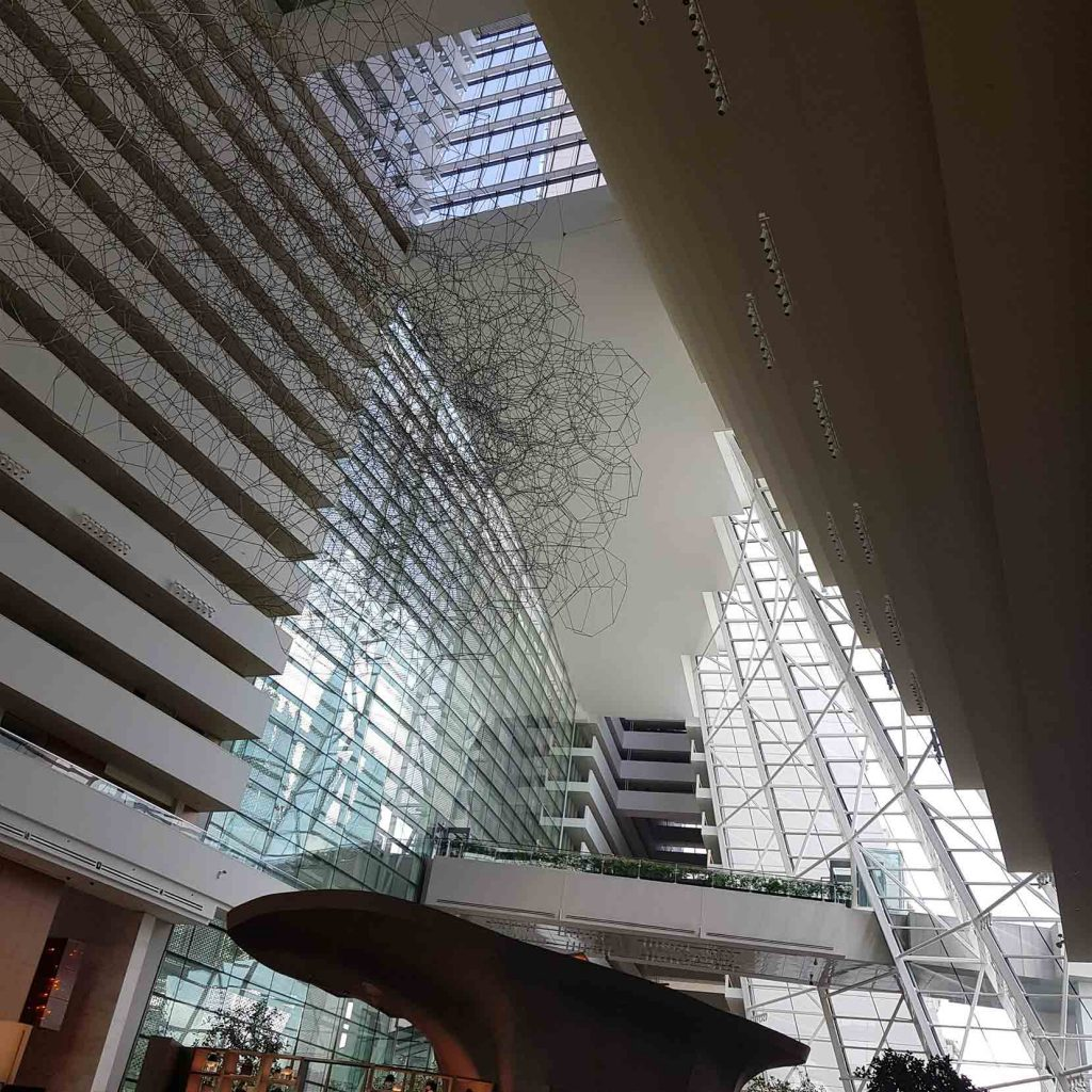 Entrance hall of Marina Bay Sands Hotel, Singapore