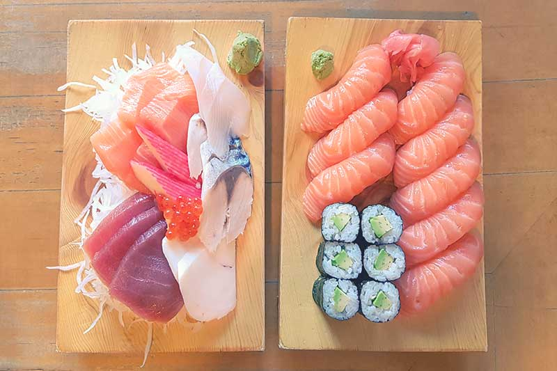 Kojiro Sushi Bar Fish Shop Naschmarkt Vienna Wien Austria - Authentic Traditional Japanese Japanschies Sushi Restaurant Sushi Set