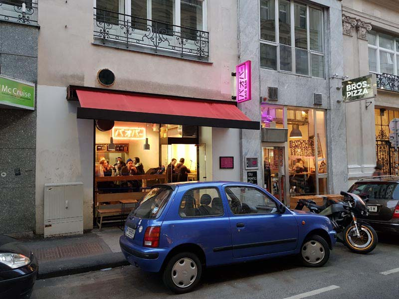 Front view of the restaurant BAO BAR near Mariahilfer Straße, Vienna, Austria