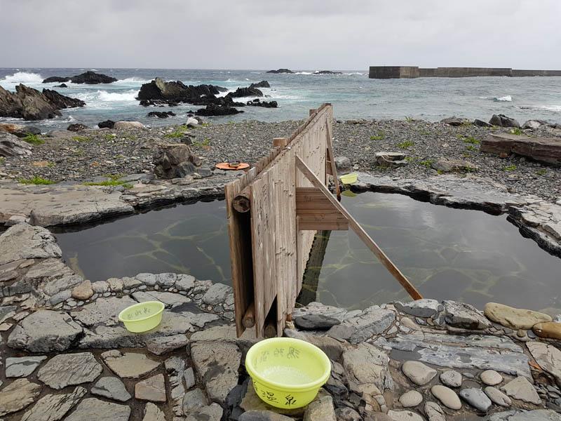 Onsen next to sea in Yakushima Island National Park, Kyushu, Kagoshima, Japan
